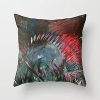 pixies Throw Pillows featuring Pixies by Jessica Doerr