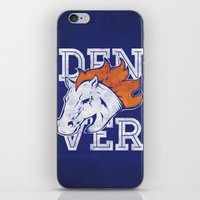 denver iPhone & iPod Skins featuring Denver by d.bjorn