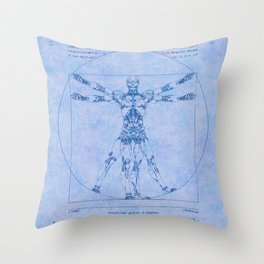 Proportions of Cyberman Throw Pillow