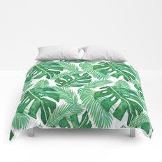 Tropical Leaf Pattern Comforters