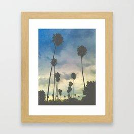 'Clouded Palms_Pastel-ized' Framed Art Print