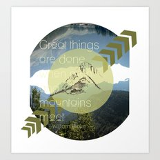 Great things Art Print