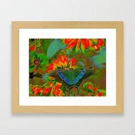 Extreme Emerald Swallowtail Butterfly Framed Art Print
