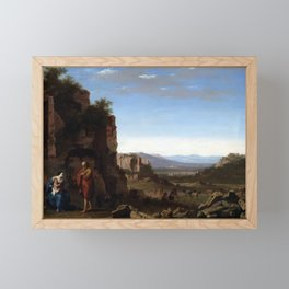 Cornelis van Poelenburch Rest on the Flight into Egypt Framed Mini Art Print