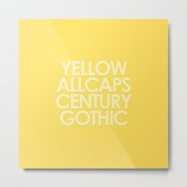 MetaType Yellow Metal Print