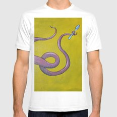 spoontacle White MEDIUM Mens Fitted Tee