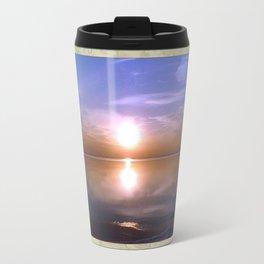 Lakeside Sunset Travel Mug