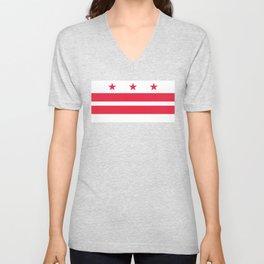 Washington D.C Flag Unisex V-Neck