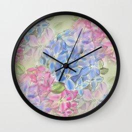 Hydrangea Floral Print Design Wall Clock