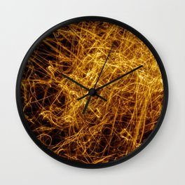 Abstract orange light effect Wall Clock