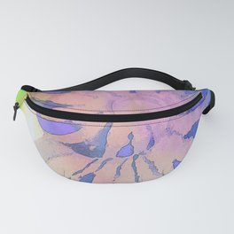 NAUTILUS SEA SHELL BLUE AND PURPLE IMPRESSIONS Fanny Pack