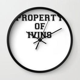 Property of IVINS Wall Clock