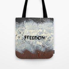 Freedom Pollock Rothko Inspired Black White Red - Modern Tote Bag
