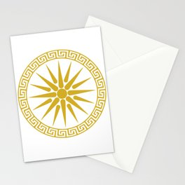 Vergina Sun Macedonian Star Argead Ancient Greek Pride Stationery Cards