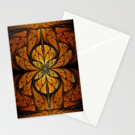Glowing Feathers Fractal Art Stationery Cards