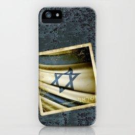 Israel grunge sticker flag iPhone Case