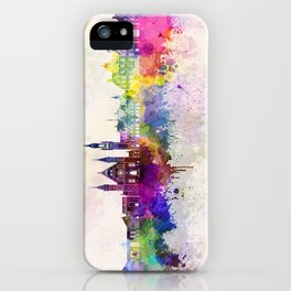 The Hague V2 skyline in watercolor background iPhone Case