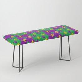 Mardi Gras Fleur-de-Lis Pattern Bench