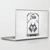the legend of zelda Laptop & iPad Skins featuring Zelda legend - Majora's mask by Art & Be