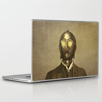 c3po Laptop & iPad Skins featuring Baron Von Three PO  by Terry Fan
