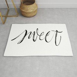 Sweet brush lettering Rug