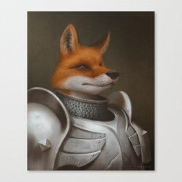 The Knight Fox Canvas Print
