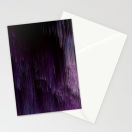Darkness Glitches Out - Abstract Pixel Art Stationery Cards