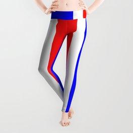 TEAM COLORS 10 ...RED,WHITE BLUE Leggings