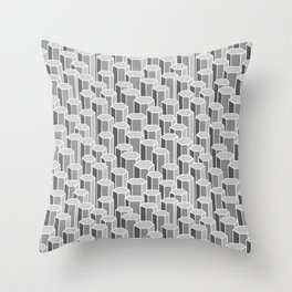 Hexagonal Columns in Grey Throw Pillow