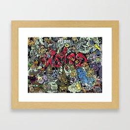 Doodle Weird (Hidden Doodles) Framed Art Print