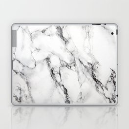 White Marble Texture Laptop & iPad Skin