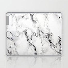 White Faux Marble Texture Laptop & iPad Skin