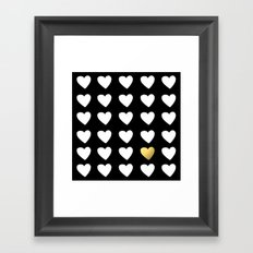 Golden Heart Framed Art Print