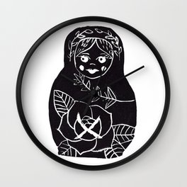Russian Doll Wall Clock