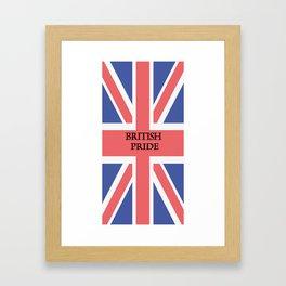British Pride Framed Art Print