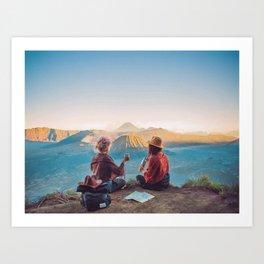 Sunset over Mount Bromo Art Print