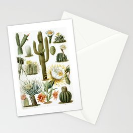 Cactaceae German Botanical Print from Brockhaus Encyclopedia Stationery Cards