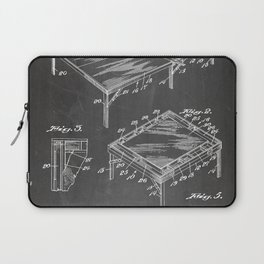 Table Tennis Patent - Tennis Art - Black Chalkboard Laptop Sleeve