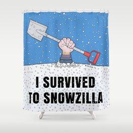 I SURVIVED TO SNOWZILLA Shower Curtain