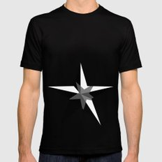 Stars SMALL Black Mens Fitted Tee