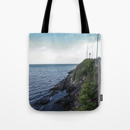 Along the sea in Ireland Tote Bag