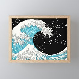 The Great Wave (night version) Framed Mini Art Print
