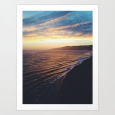 Point Dume Sunset Art Print
