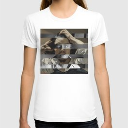 "Gustave Courbet ""The Desperate Man"" Self Portrait & James Stewart in Vertigo T-shirt"