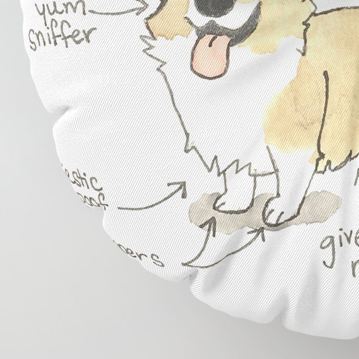 Anatomy of a Corgi Floor Pillow