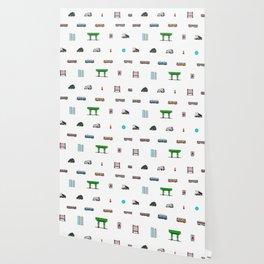 Boston Pixel Pattern Wallpaper