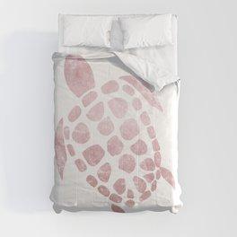 Minimal Sea Turtle #3 #animal #decor #art #society6 Comforters