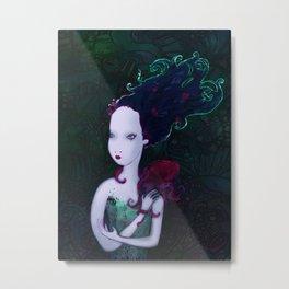 Mermaid & Mr Bubbles Metal Print