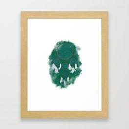 Classic Dreamcatcher 2: Green background Framed Art Print