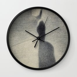 Georges Seurat - Woman Fishing - Rare French Retro Vintage Drawing Wall Clock